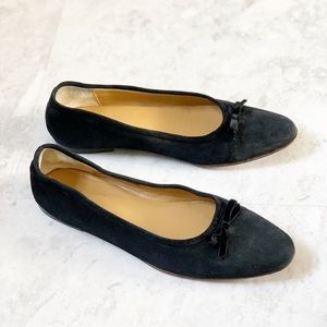 J. Crew Black Suede Italian Made Leather Flats 7.5